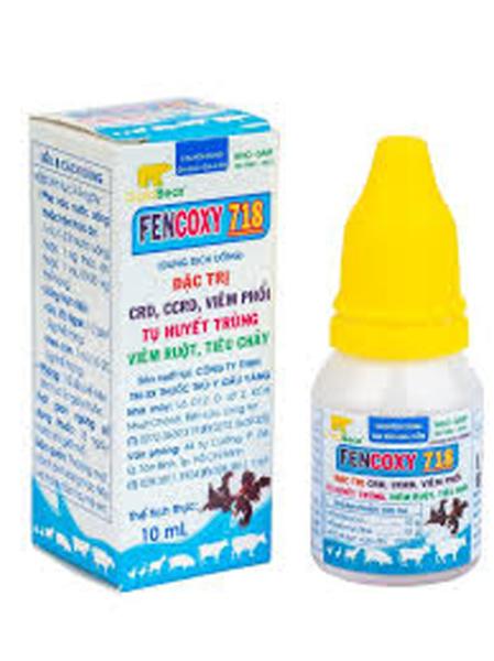 [Giá rẻ]Fencoxy 718 [10 ml] Gà đá viêm phổi, tụ huyết trùng, viêm ruột, tiêu chảy, CRD, CCRD