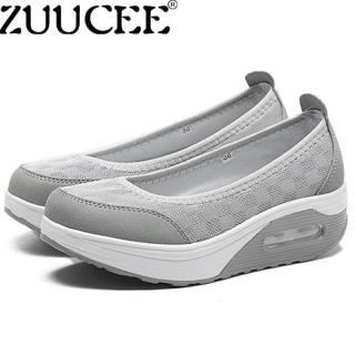 Giày đế bệt Hàn Quốc ZUUCEE Giày đế bằng cho nữ Giày cỡ lớn 35-42 Giày cao gót Giày đế thấp Giày đế thấp (Xám) thumbnail