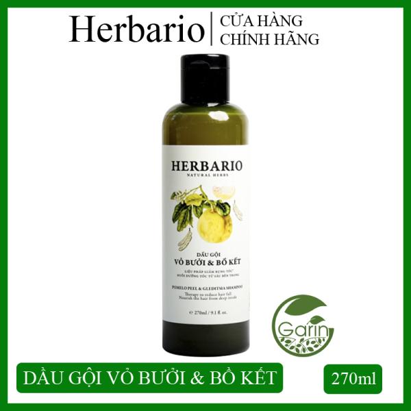 Dầu gội vỏ bưởi và bồ kết Herbario 270ml nuôi dưỡng tóc từ sâu bên trong giúp giảm rụng tóc, kích thích tóc mọc nhanh, giúp tóc luôn chắc khỏe, suôn mượt tự nhiên