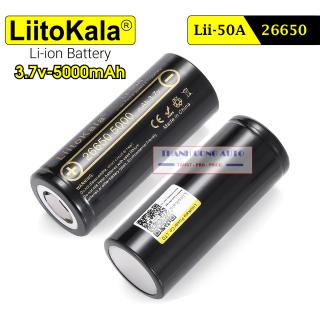 01 viên pin sạc Liitokala Engineer Lii-50A 3.7V 26650 5000mah 20A Dung Lượng Cao dùng cho đèn pin, thiết bị điện tử cao... thumbnail