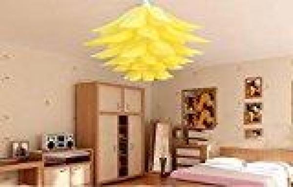 Star Mall Green Creative DIY Living Room Decorated Lotus Shade Yellow