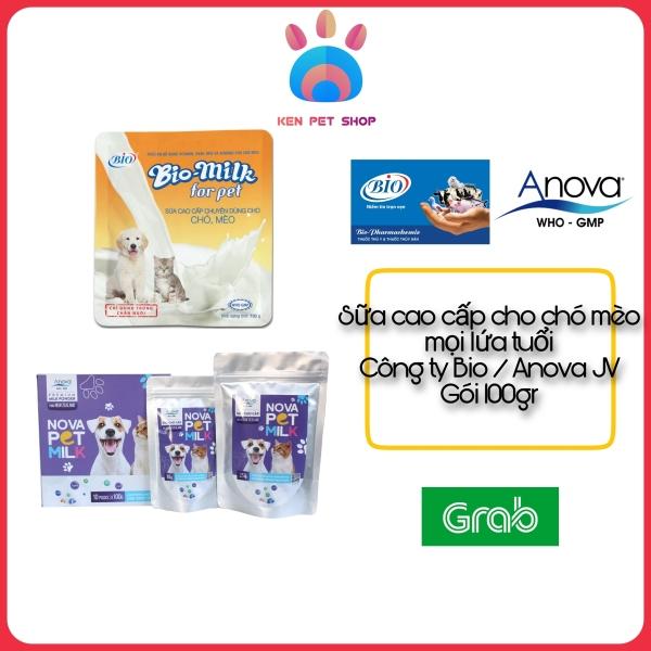 [BIO-MILK FOR PET và NOVA-PET MILK] [100GR] Sữa cao cấp chuyên dùng cho chó, mèo