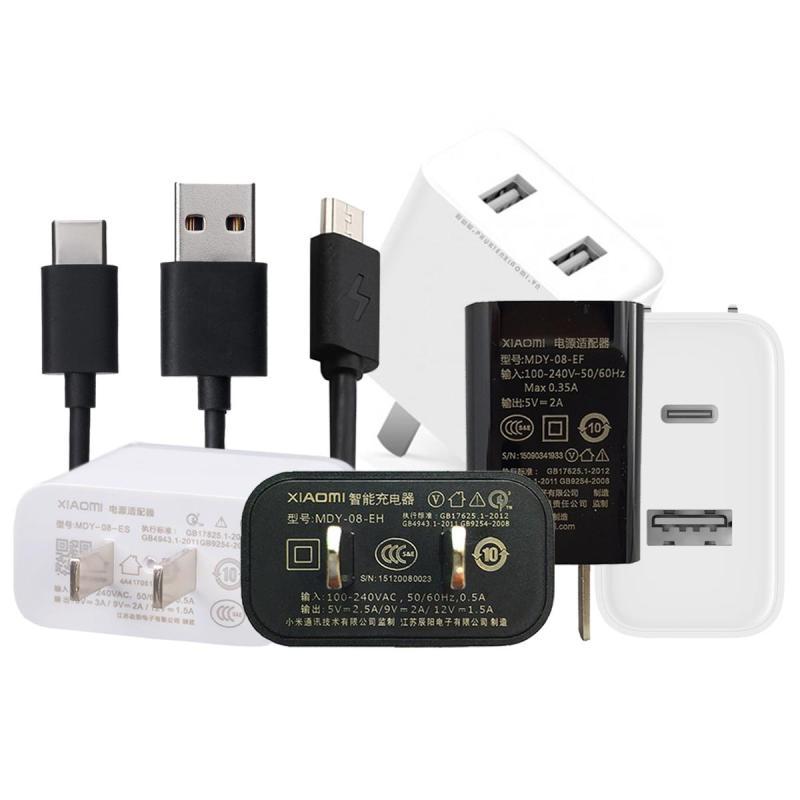 Các mẫu củ Sạc Nhanh Xiaomi 1 USB / 2 USB QC 3.0 / 4.0 / 1A1C / 5V2A  MDY-08-EF / MDY-08-EO / MDY-08-EH / MDY-08-ES / CDQ03ZM 18W / AD07ZM 36W / AD16ZM 30W / Cáp Type-C Cáp Micro  – Hàng nhập khẩu