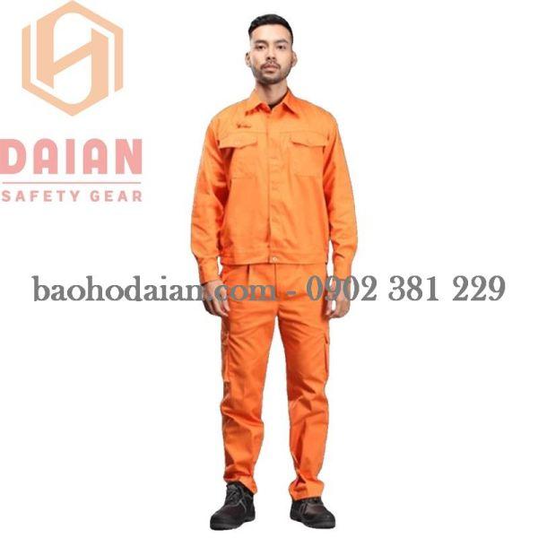 Quần áo điện lực tiêu chuẩn màu cam vải Pangrim túi hộp
