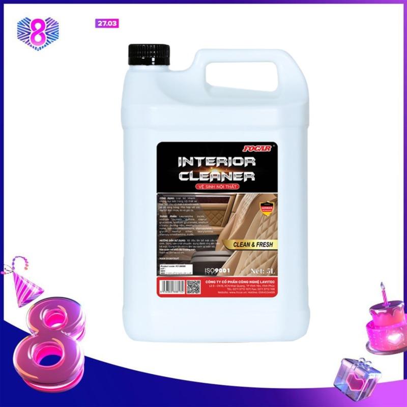 Dung dịch vệ sinh nội thất ô tô, tẩy rửa nội thất xe, tẩy rửa nỉ, xịt tẩy da, vệ sinh nhựa xe ô tô FOCAR Interior Cleaner 5L