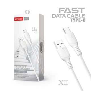 Dây sạc Cáp sạc dữ liệu 2.1A X1 Type-C dây sạc pin nhanh an toàn bảo vệ sạc quá tải quá vòng vỏ dây nhựa bảo vệ dây sạc khi sử dụng thumbnail