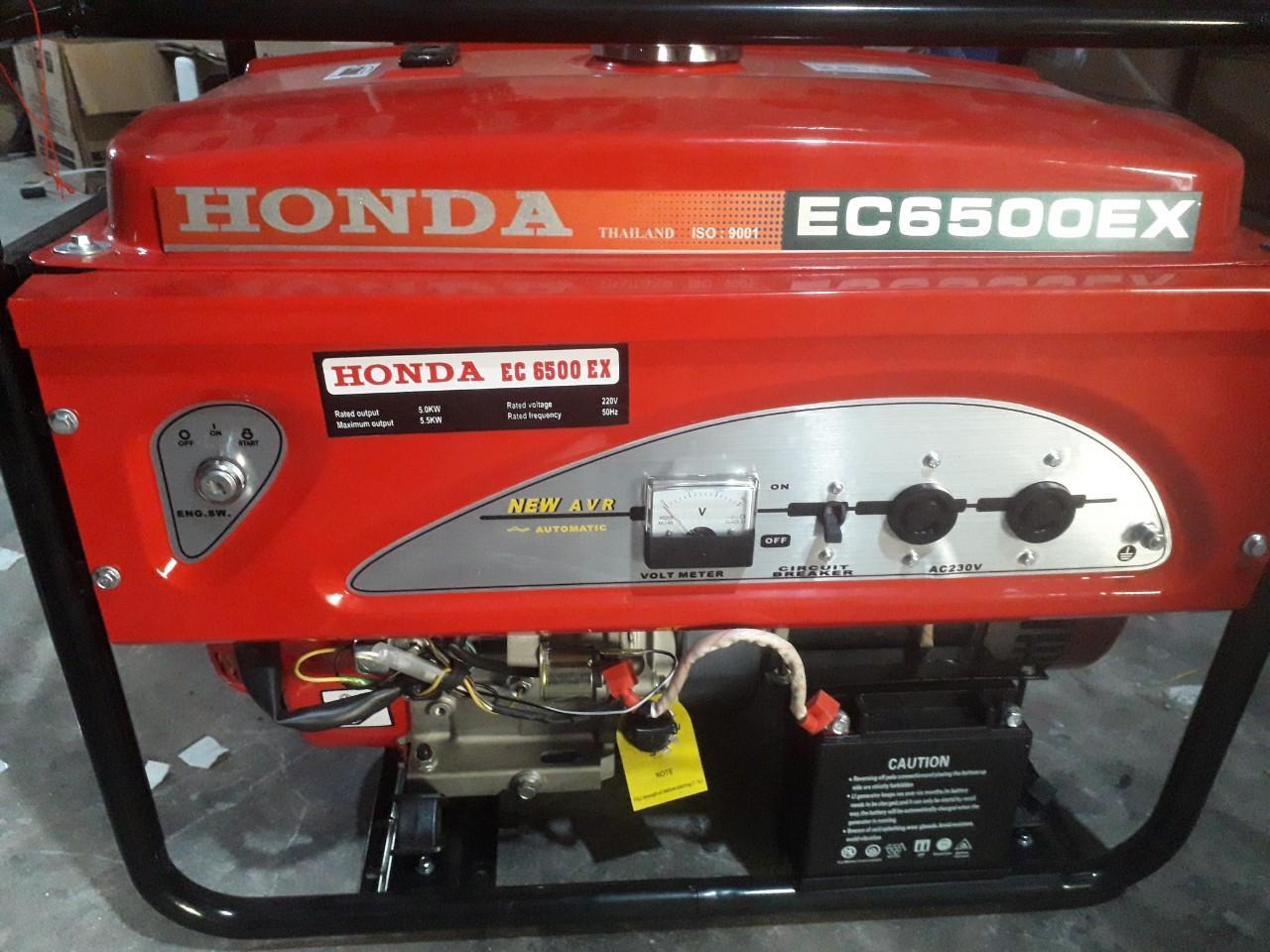 Máy Phát Điện Honda 6kw EC6500EX Chạy Xăng Đề Nổ