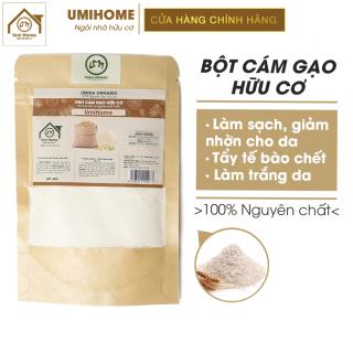 Bột Cám Gạo đắp mặt hữu cơ UMIHOME nguyên chất Rice bran flour 100% Organic 40G thumbnail