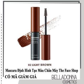 Mascara Định Hình và Tạo Màu Chân Mày The Face Shop Designing Browcara 6.5g [Nhiều màu] thumbnail