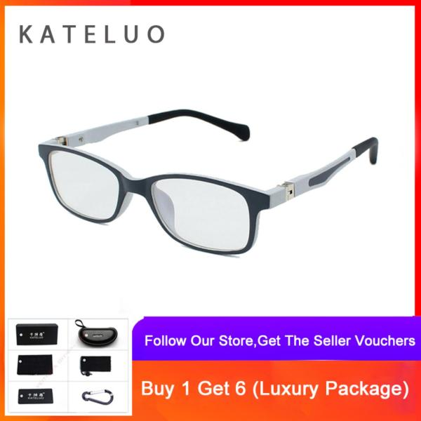 Mua KATELUO TR90 Children Anti Computer Blue Laser laser Fatigue Radiation-resistant Kids Eyeglasses Glasses Frame 1021