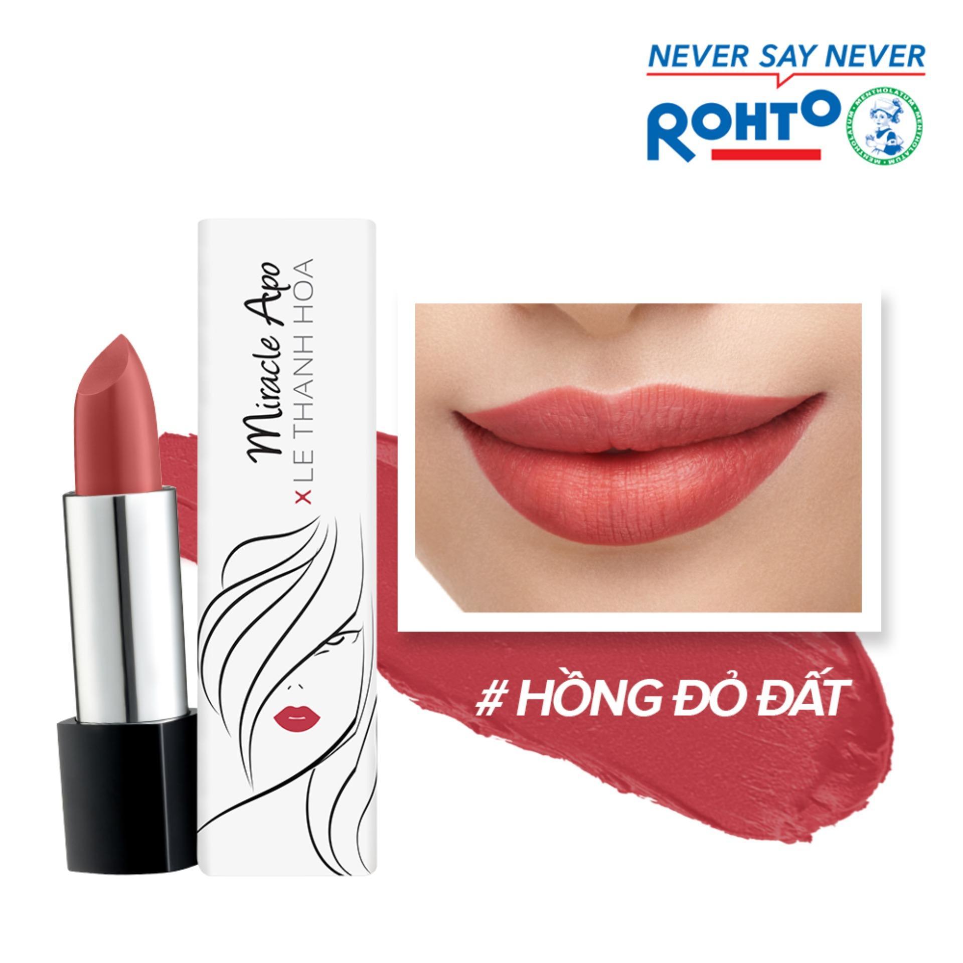 Son lì Miracle Apo Lipstick Matte x Lê Thanh Hòa Cosmopolitan 4g (Hồng đỏ đất)