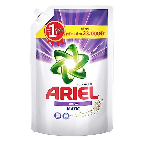 Combo 02 túi Nước Giặt Ariel 1,25kg Giữ Màu (Tím)