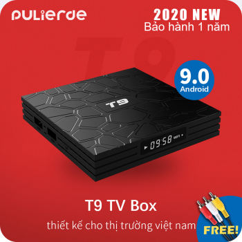 [Hot Deal][Hộp TV thông minh]T9 tivi box Android 9.0 2GB/4GB RAM 16GB/32GB/64GB ROM 5GHz wifi RK3318 Hỗ trợ Bluetooth 4K smart TV box Media Player