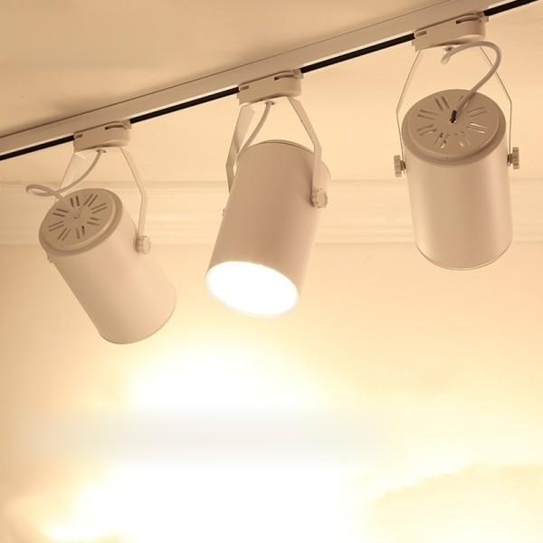 Combo 3 đèn rọi ray + 1 ray 1 mét vỏ trắng dùng cho trưng bày sản phẩm, chiếu rọi tranh