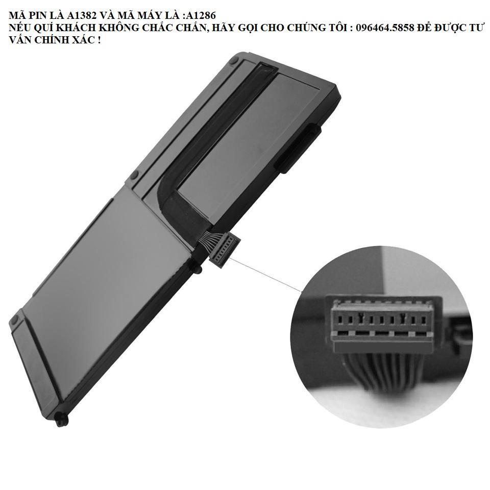 """Pin Cho Macbook Pro 15"""" Mã Máy A1286 2011 2012 Series Mã Pin A1382 Hàng Mới 100%"""