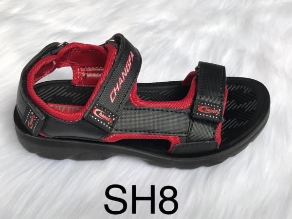 Giày sandal trẻ em quai vải đúc nguyên khối cao cấp SH8 đi học- GE002