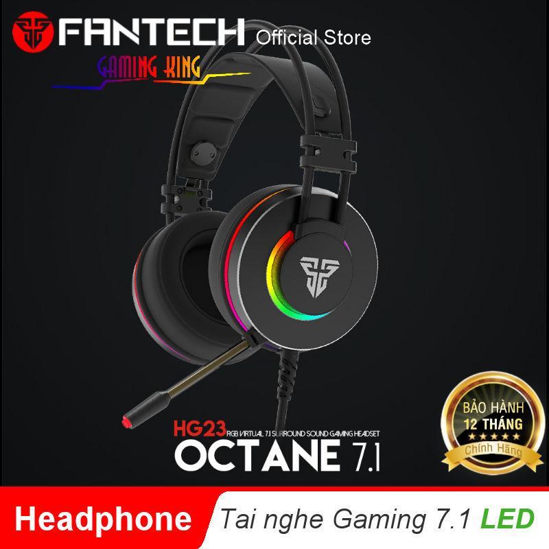 Giá Tai nghe chơi Game chụp tai OCTANE 7.1 hỗ trợ LED RGB kèm micro phone có phần mềm tùy chỉnh âm thanh cho Game thủ FANTECH HG23 - Hãng phân phối chính thức