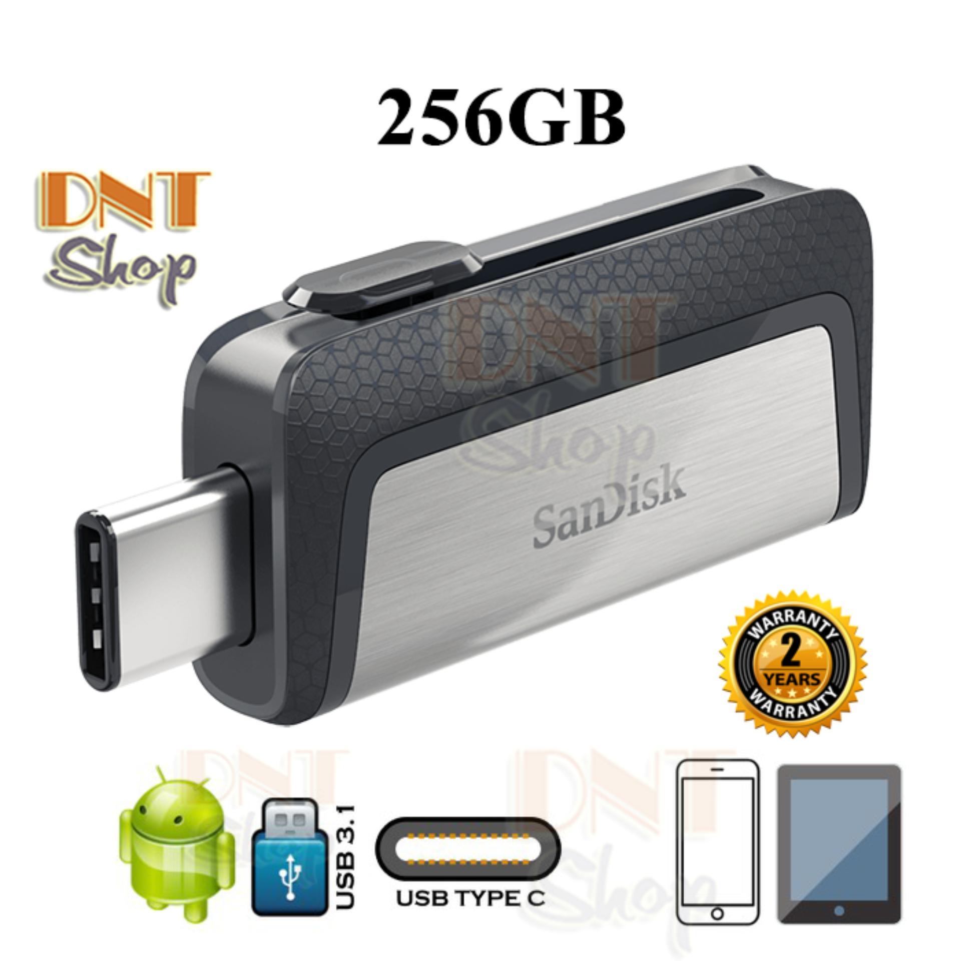USB OTG SanDisk Ultra Dual Type-C 3.1 256GB 150MB/s (SDDDC2-256G-A46) Giá Siêu Cạnh Tranh
