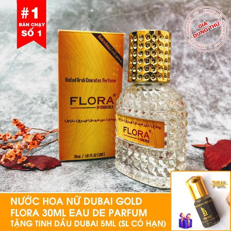 [Tặng tinh dầu Dubai ] Nước hoa nữ nội địa Dubai Gold Flora 30ml -Tặng tinh dầu Dubai 5ml Khuyến Mại Hôm Nay