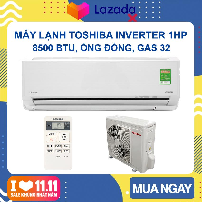 Bảng giá Máy lạnh Toshiba Inverter 1 HP RAS-H10D1KCVG-V (Trắng) Phạm vi làm lạnh dưới 15m2, Công suất tiêu thụ 0.85kW/h