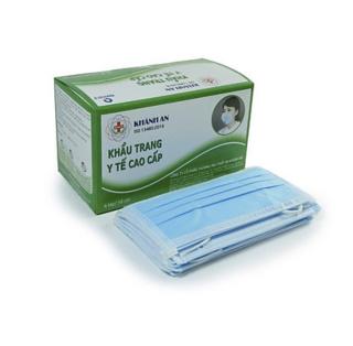 Khẩu trang y tế Khánh An 4 lớp kháng khuẩn hộp 50 cái (màu xanh) thumbnail