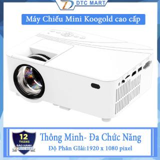 Máy Chiếu Mini Koogold Thông Minh, Máy Chiếu Full HD 1080p Sắc Nét Từng Khung Hình, Cổng kết nối hỗ trợ VGA, AV, HDMI, USB 2.0, thẻ SD BH 1 năm bởi Trademard thumbnail