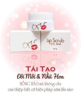 Dưỡng môi hồng nhũ hoa Lip Scrub AHA Hàn quốc thumbnail