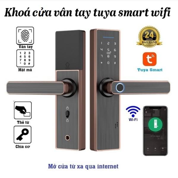 Khoá cửa vân tay Tuya wifi mở cửa từ xa qua internet