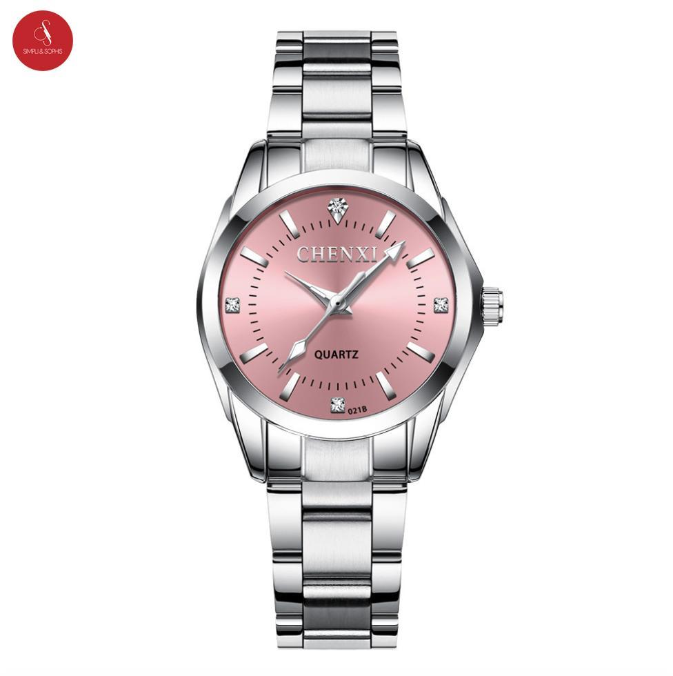 Đồng hồ nữ CHENXI CX-021B cao cấp 30mm (Hồng/ Xanh) + Tặng hộp đựng đồng hồ thời trang & Pin bán chạy