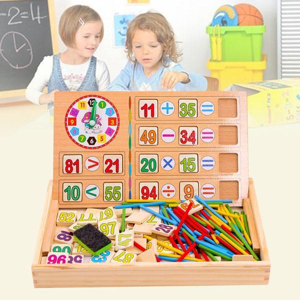 Mua Bảng gỗ 2 mặt cho bé học toán (Loại tốt)