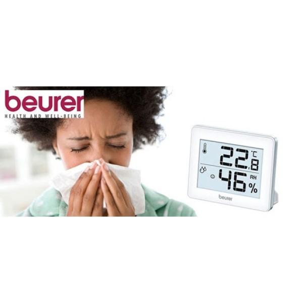 (BH 2 năm) Nhiệt ẩm kế Beurer HM16 hiển thị 0-50 độ và độ ẩm 20-95 để bàn hoặc treo tường