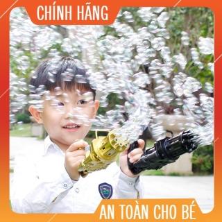 Đồ chơi súng bắn bong bóng 8 nòng, súng thổi bong bóng , thổi xà phòng bong bóng thumbnail