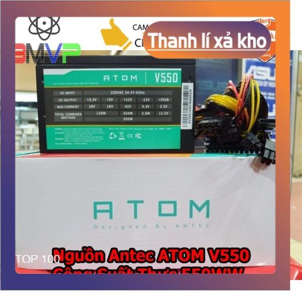 Bảng giá Nguồn Máy Tính Antec ATOM V550 - Công Suất Thực 550W - Hàng chính hãng Phong Vũ