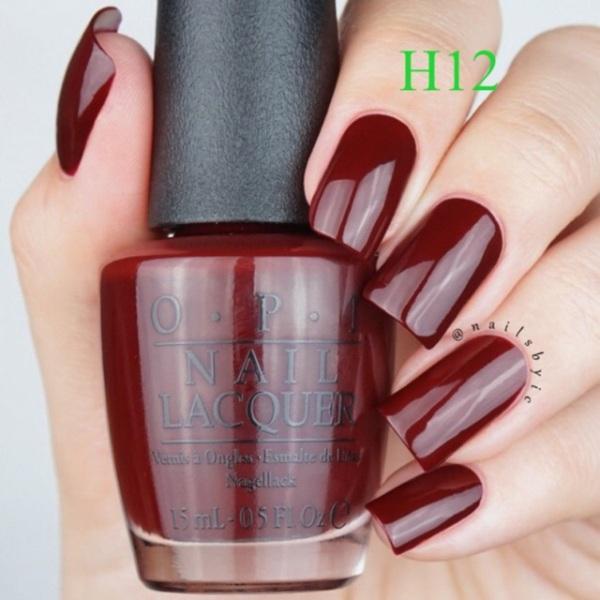 Sơn Móng Tay Opi 15Ml Tông Màu Đỏ Đô (H12)