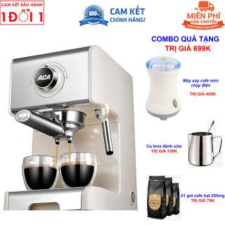 Quà Tặng Trị Giá 599K - Miên Phi Giao Hàng Toàn Quốc - Hướng Dẫn Sử Dụng Máy pha cà phê Espresso ACA AC-ES12A bán tự động 20 Bar dành cho gia đình - Máy pha cà phê Espresso ACA ES12A bán tự động 20 Bar dành cho gia đình thumbnail