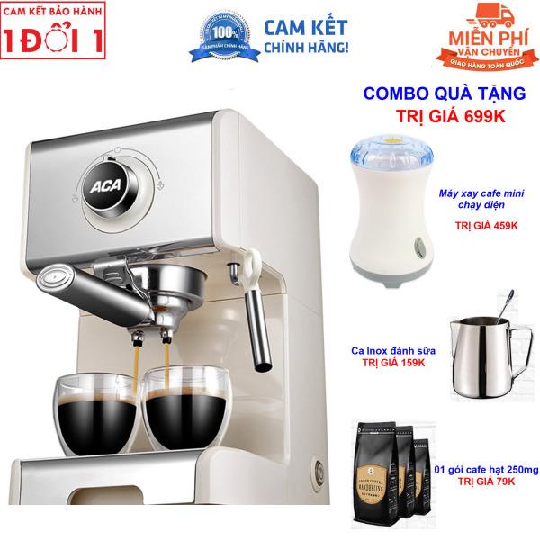 Quà Tặng Trị Giá 599K - Miên Phi Giao Hàng Toàn Quốc - Hướng Dẫn Sử Dụng Máy pha cà phê Espresso ACA AC-ES12A bán tự động 20 Bar dành cho gia đình - Máy pha cà phê Espresso ACA ES12A bán tự động 20 Bar dành cho gia đình