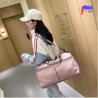 Large Capacity Travel Bag with Shoe Bag - Oxford Cloth Sport Bag, Portable Weekend Bag, Shoulder Bag, Gym Bag Yoga Handbag thumbnail
