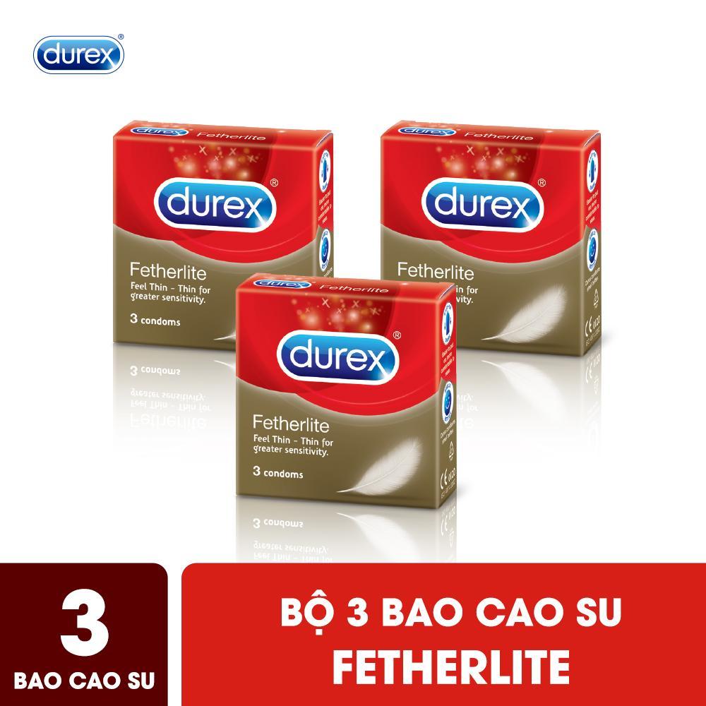 Bộ Bao Cao Su Durex Fetherlite 3 Hộp 3 Bao nhập khẩu
