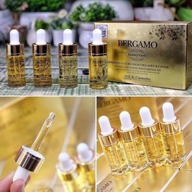 Serum Bergamo Luxury Gold Set 4 chai nhập khẩu