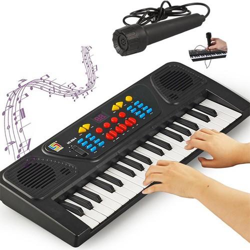 Đàn piano điện tử 37 phím có micro vừa đàn vừa hát cho bé, đàn organ điện tử, đàn piano, đàn piano có bộ sạc pin tiện lợi, đàn piano cho bé phát triển năng khiếu âm nhạc