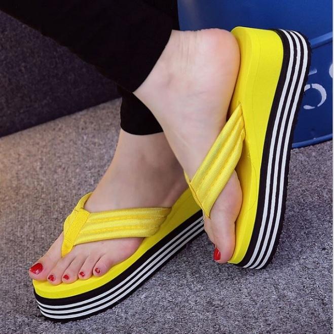 Dép Quai Ngang Nữ,Dép Sandal Nữ Đế Cao 7cm Thời Trang 2020 giá rẻ