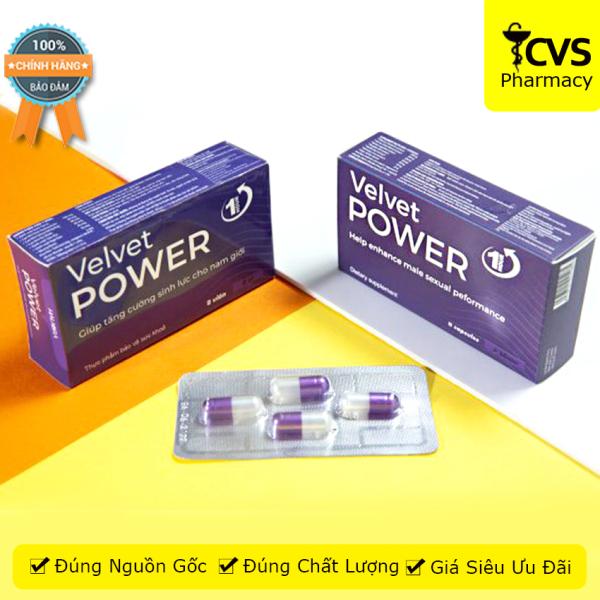 Viên uống Velvet Power 1 Hour (Hộp 8 viên) - hỗ trợ tăng cường sinh lý nam giới, giúp bổ thận, tráng dương - cvspharmacy cao cấp
