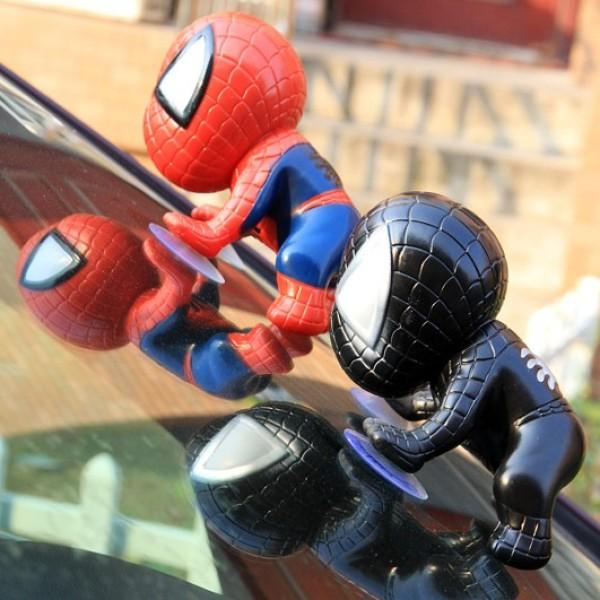 Trang trí ô tô taplo hình Spider Man️FREESHIP️Người nhện spider-man gắn kính xe hơi trang trí nhà cửa