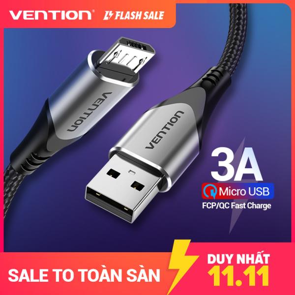 Cáp Sạc Nhanh Vention Micro USB 3A Dành Cho Samsung Xiaomi Oppo LG Tablet Android