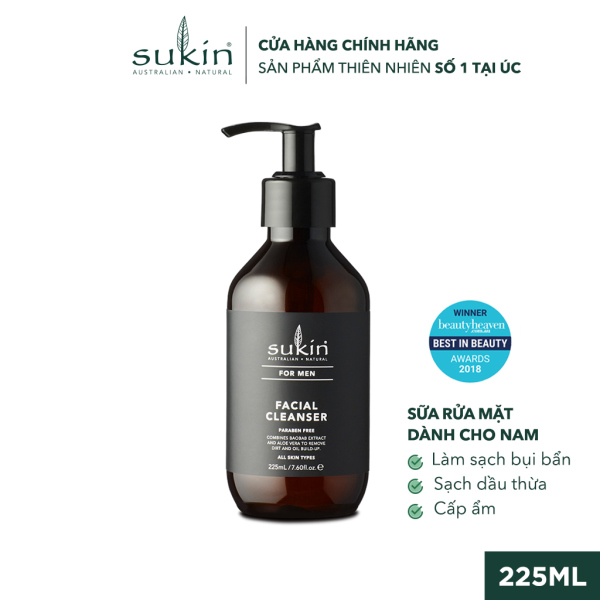 Sữa Rửa Mặt Dành Cho Nam Sukin For Men Facial Cleanser 225ml giá rẻ