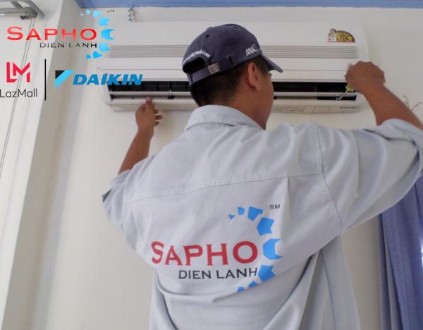Bảng giá Bảo Trì Máy Lạnh Tại Nhà Gói CAC Basic 6 Bước Tất Cả Thương Hiệu Điều Hoà Treo Tường 1HP - 2HP Service 2021 Daikin - Điện Máy Sapho