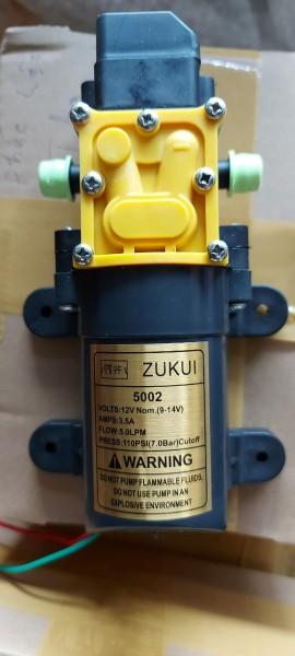 Máy bơm tăng áp MINI 12V ZUKUI lưu lượng 5L/ phút ứng dụng rộng rải trong phun sương tưới lan rửa xe