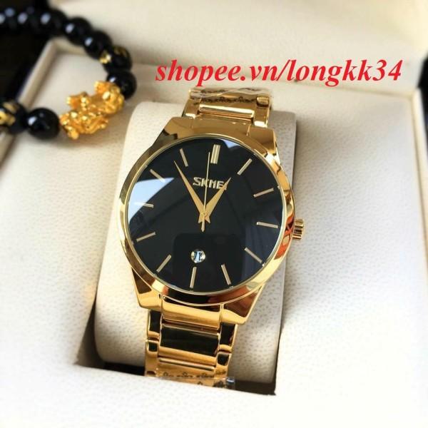 Đồng hồ nam Skmei 9999 dây vàng mạnh mẽ phong cách trẻ trung, đa dạng sản phẩm, cam kết hàng như hình