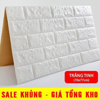 Xốp Dán Tường 3D Giả Gạch / Chịu Lực, Chống Nước, Chống ẩm Mốc / 70x77cm Có Giá Ưu Đãi