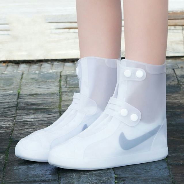 Bao giày đi mưa bọc giày đi mưa silicon cao cấp có khuy bấm điều chỉnh - Q33119 giá rẻ
